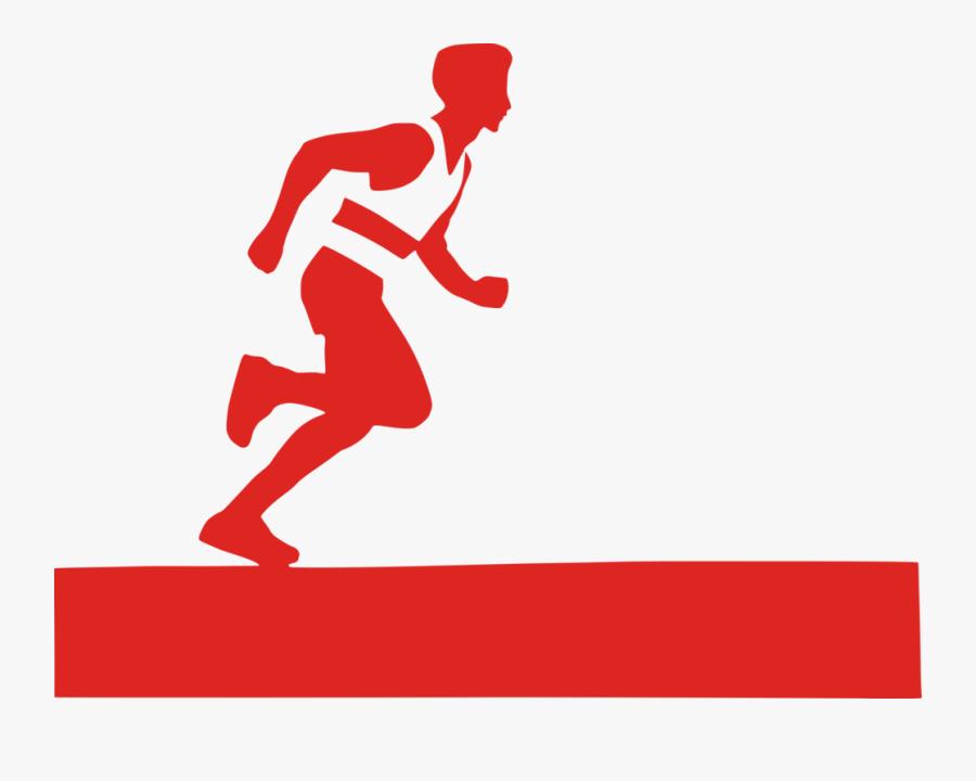 Standing,human Behavior,recreation - Marathon Running Clipart, Transparent Clipart