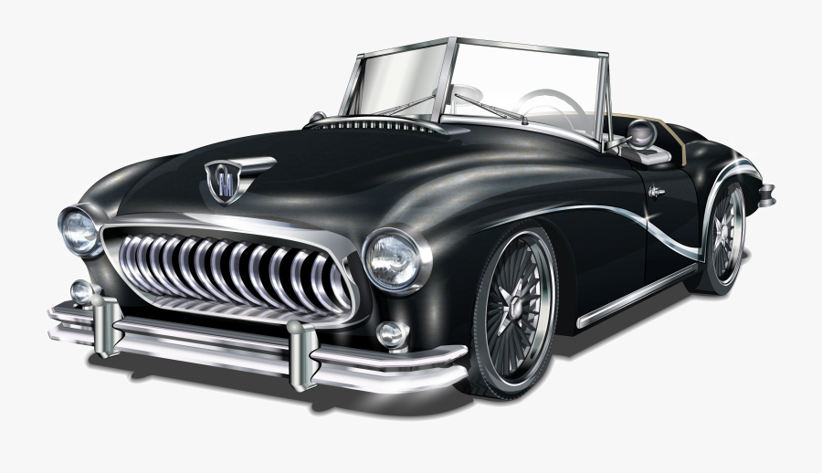 Car Cars Vector Vintage Classic Hd Image Free Png Clipart - Happy Birthday Car Card, Transparent Clipart