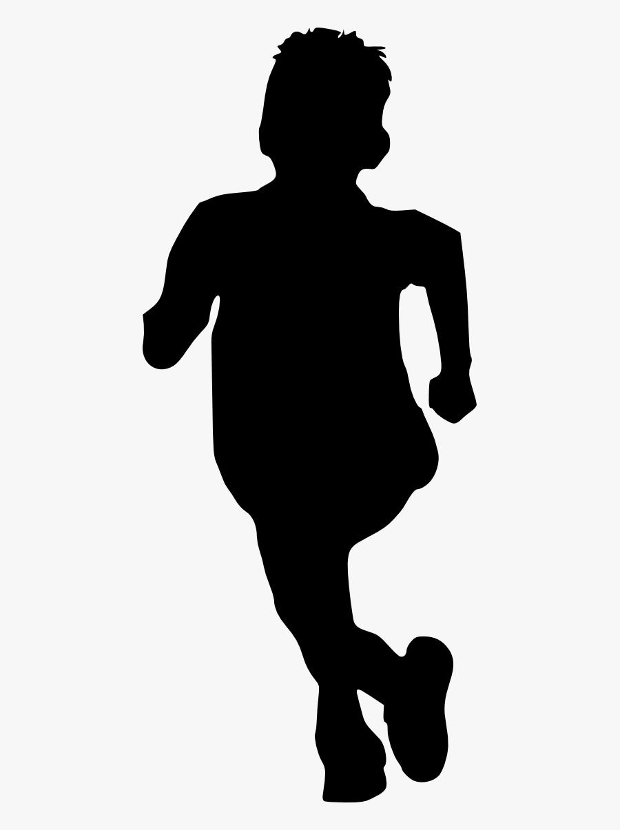 10 Kid Children Running Silhouette - Boy Running Silhouette Png Transparent, Transparent Clipart