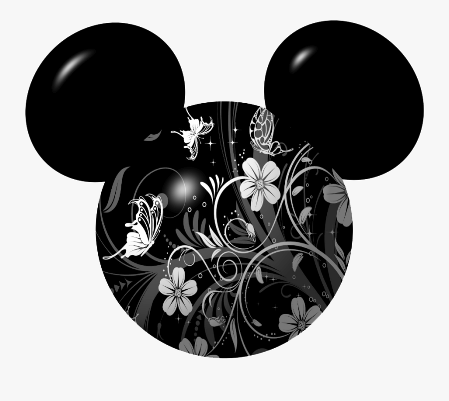 Mickey Mouse Icon Clipart - Disney Ears Flowers Clipart, Transparent Clipart
