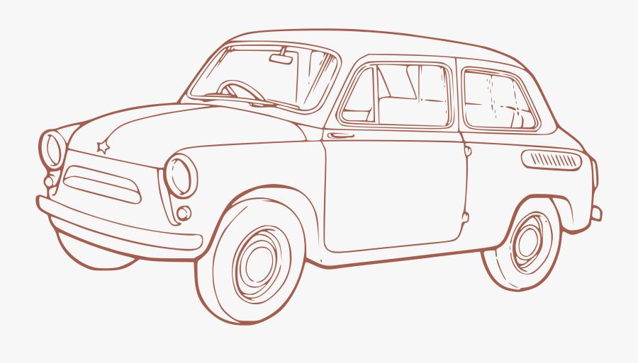 Clip Art Classic Car Outline - Outline Of Car Png, Transparent Clipart