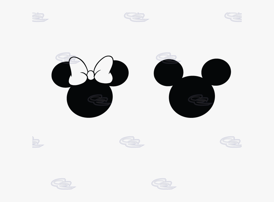 Mickey Minnie Mouse Head Silhouette N2 Free Image , - Mickey And Minnie Mouse Black, Transparent Clipart