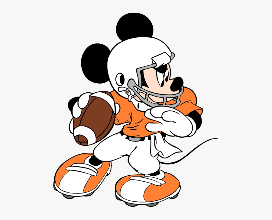 American Football Mickey Mouse, Transparent Clipart