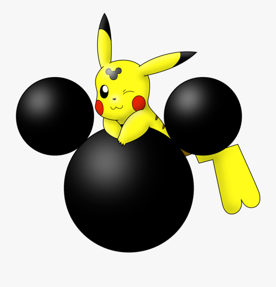 """Mmhm Pikachu Mickey Mouse""""s Head Silhouette By Wanda92 - Silhouette Mickey Mouse Head Face, Transparent Clipart"""