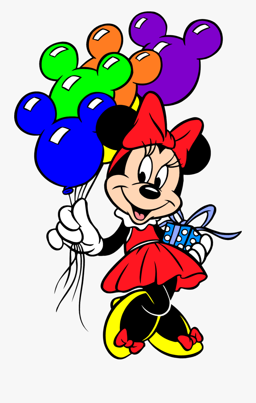 Mickey Mouse Head Halloween Clipart - Minnie Mouse Con Globos, Transparent Clipart