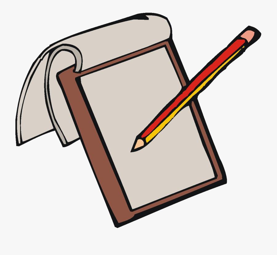Pencil Paper And Clipart Transparent Png - Pen And Paper Clipart, Transparent Clipart
