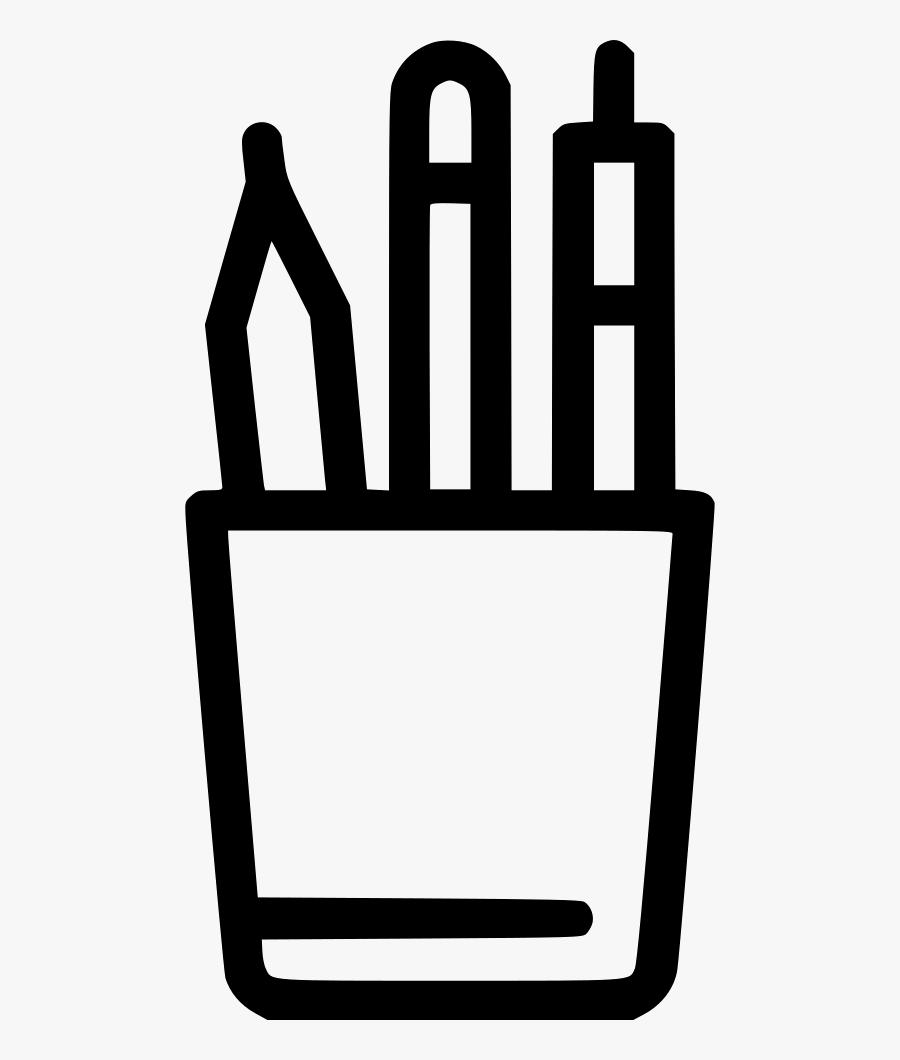 Pen Holder Comments - Pencil And Paper Silhouette, Transparent Clipart