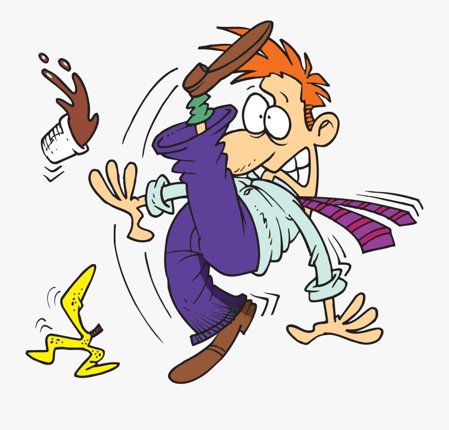 July Jrensey Blog Slip - Slipping On Banana Peel In Kitchen, Transparent Clipart