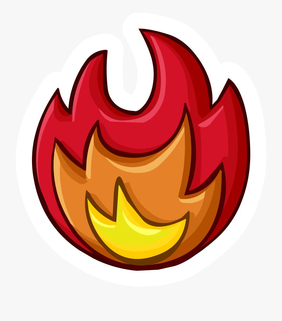 Campfire Clipart Fire Pit Club Penguin - Club Penguin Card Jitsu Fire Pin, Transparent Clipart