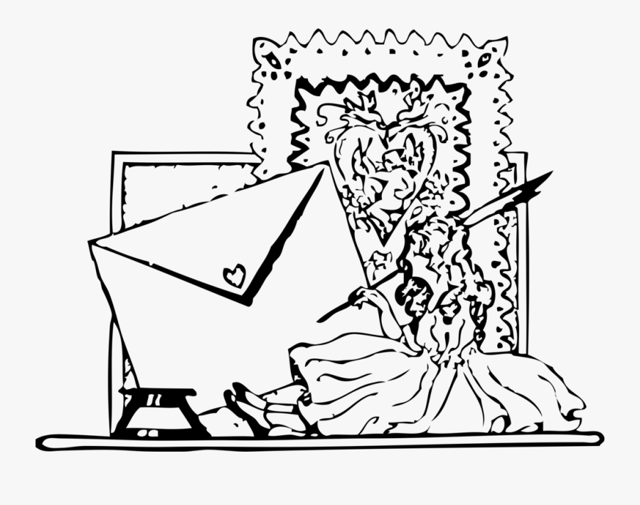 Writing Valentines - Letter, Transparent Clipart