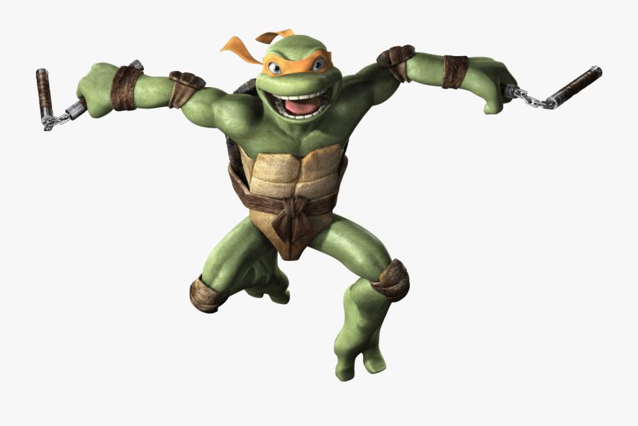 Ninja Turtles Png - Teenage Mutant Ninja Turtles Michelangelo Png, Transparent Clipart