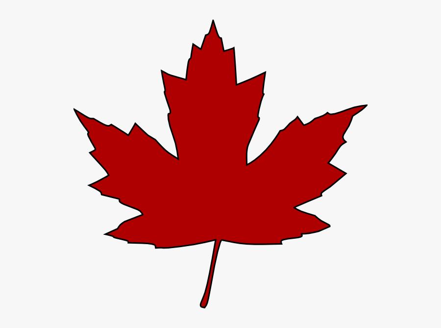 Clip Art Canadian Maple Leaf, Transparent Clipart