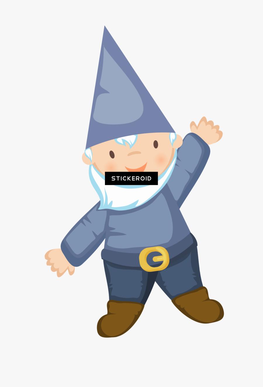 Vintage Garden Gnome Statue - Gnome Cartoon Transparent, Transparent Clipart