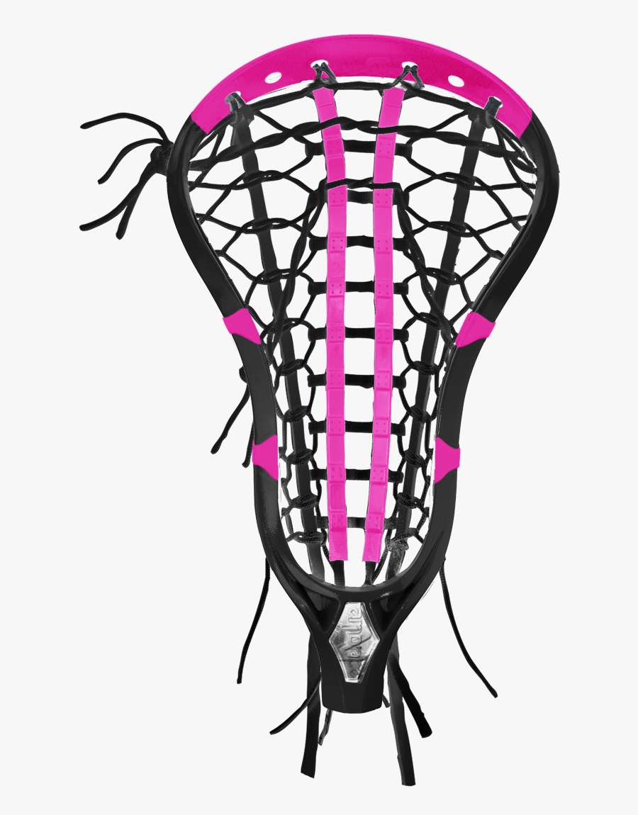 Brine Limited Edition Amonte 2 Heads And Rockpop Handle - Black And Pink Lacrosse Sticks, Transparent Clipart