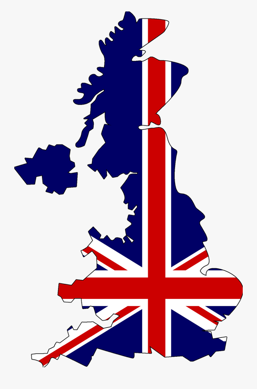 United Kingdom England Map Drawn Holiday Geography - United Kingdom Flag Map, Transparent Clipart