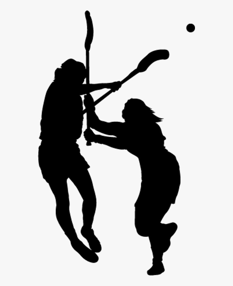 Clinics - Silhouette Lacrosse Clip Art, Transparent Clipart
