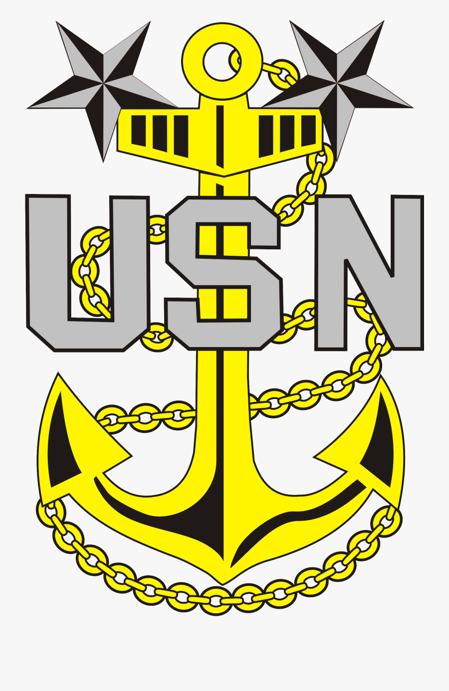 United States Navy Anchor, Transparent Clipart