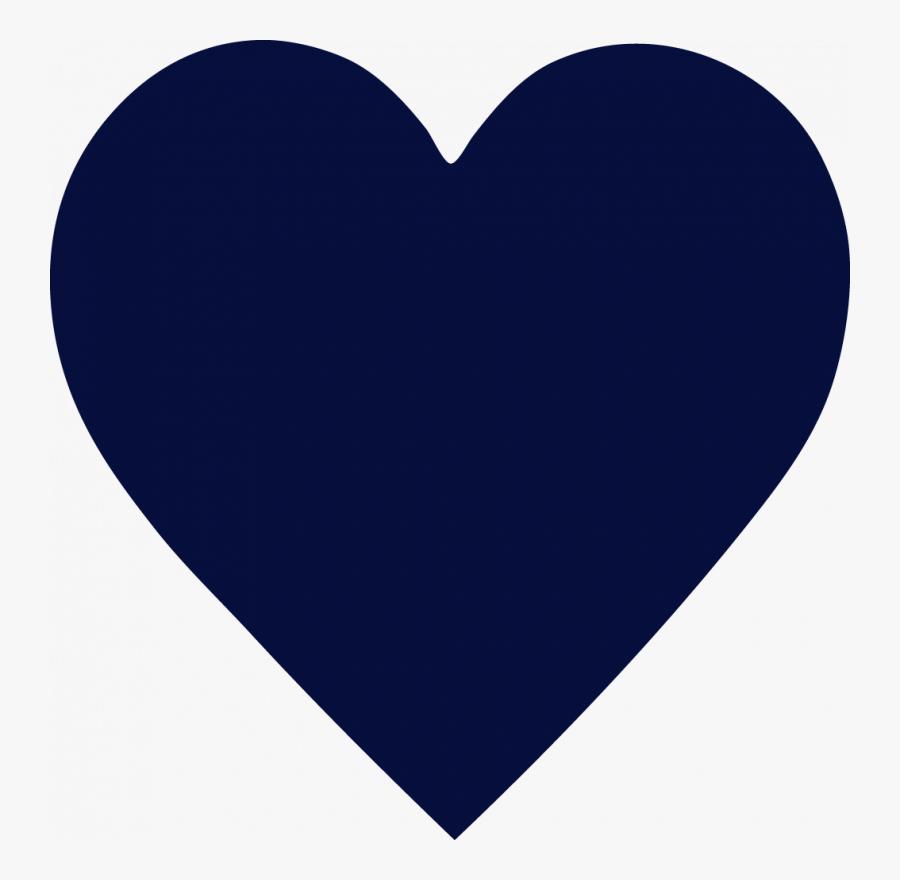 Navy Heart - Navy Blue Love Heart, Transparent Clipart