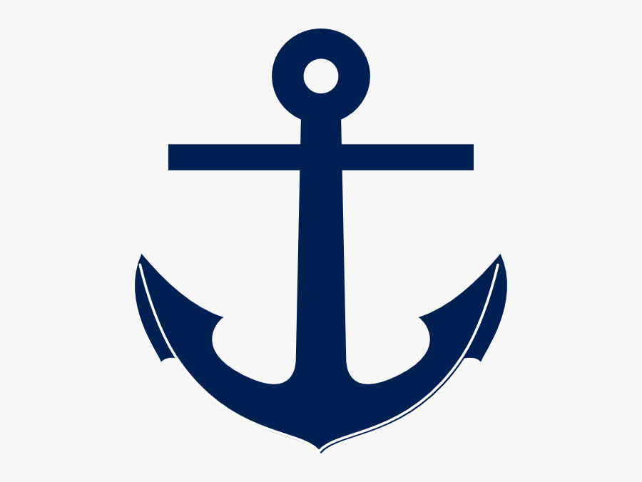 Navy Blue Anchor Clipart, Transparent Clipart