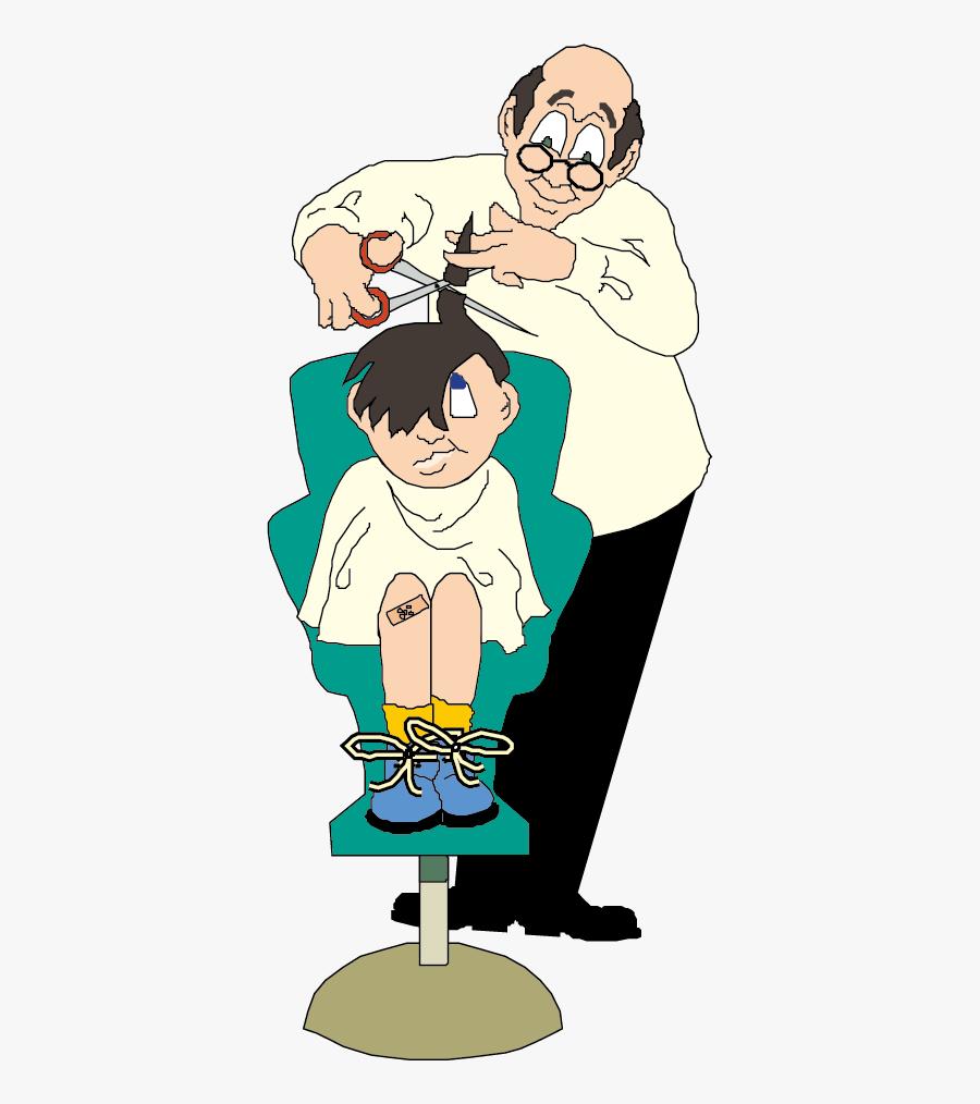 Haircut Clipart Baber - Hairdresser Kids Cartoon , Free ...