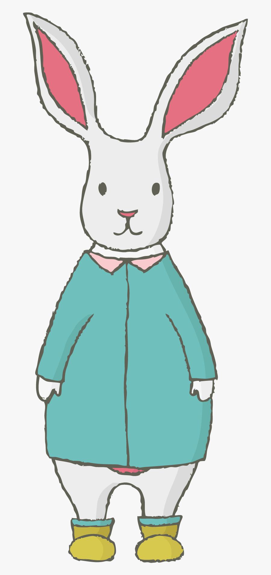 Transparent Dog Ears Clipart - Rabbit, Transparent Clipart