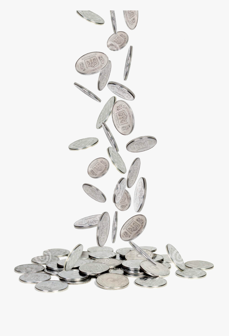 Silver Coins Png Falling Images Free - Transparent Silver Coins Png, Transparent Clipart
