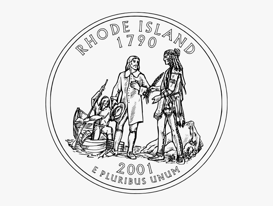 Rhode Island Coin Clip Art At Clker - State Quarter, Transparent Clipart