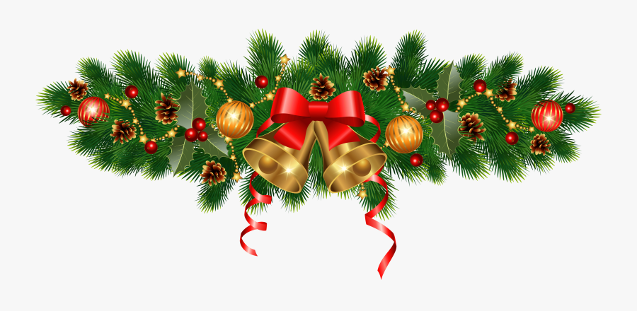 Christmas Golden Bells And Ornaments Decoration Png - Christmas Decorations 2019 Png, Transparent Clipart