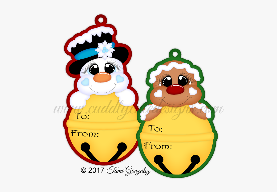 Bell Christmas Tags Clipart, Transparent Clipart
