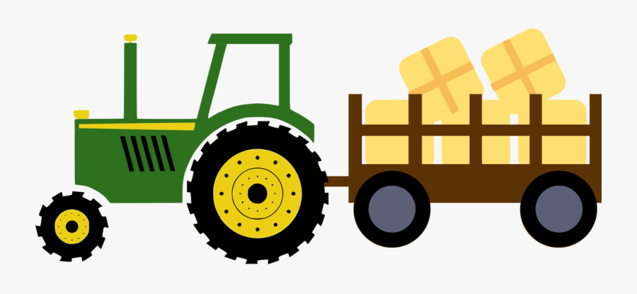 Tractor With Hay Wagon - John Deere Tractor Clipart, Transparent Clipart