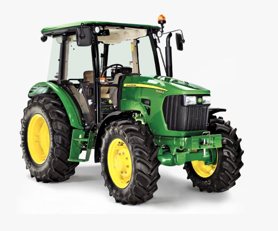 Transparent Green Tractor Clipart - John Deere 5095e Tractor, Transparent Clipart
