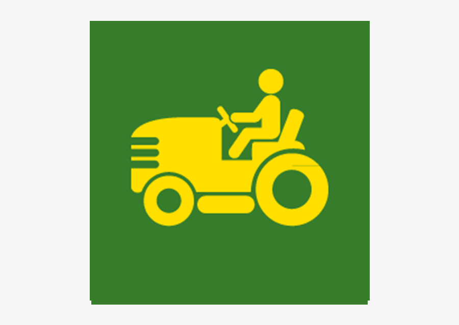 Graphic Of A Man Riding A Lawn Mower - Tractor, Transparent Clipart