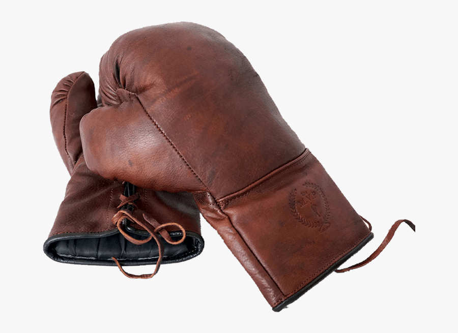 Vintage Boxing Gloves - Brown Boxing Gloves Laced, Transparent Clipart