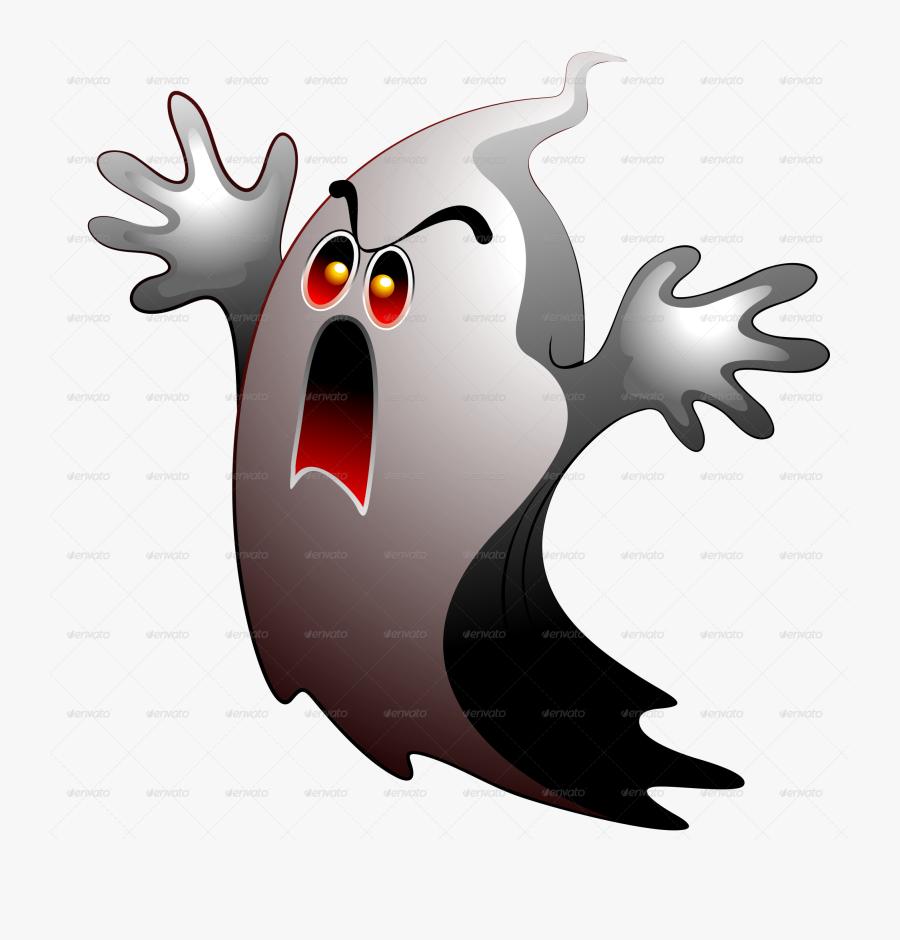 Ghost, Halloween Party Stickers Poster Frame Bluedarkat - Cartoon, Transparent Clipart