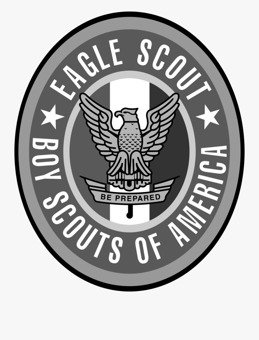 Eagle Scout Boy Scouts Of America Scouting Clip Art - Black And White Eagle Scout Logo, Transparent Clipart