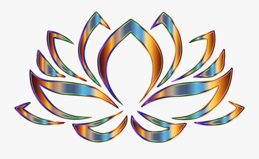 Psychedelic Lotus Flower - Lotus Flower Hinduism Symbol, Transparent Clipart