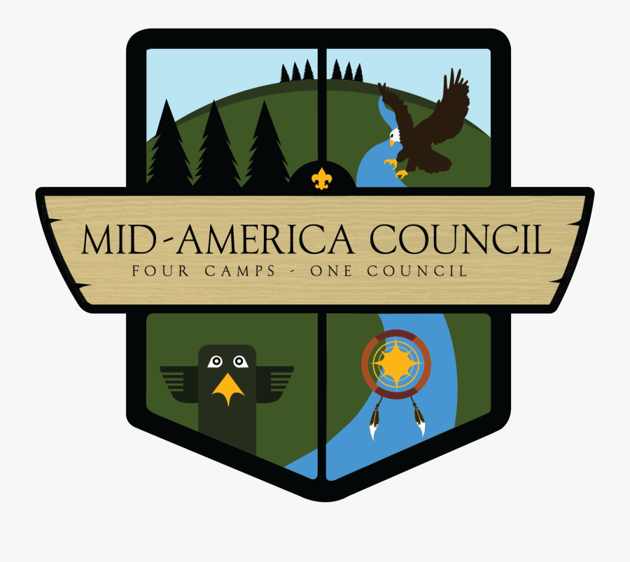 Boy Scouts Of America Mid America Council Logo, Transparent Clipart