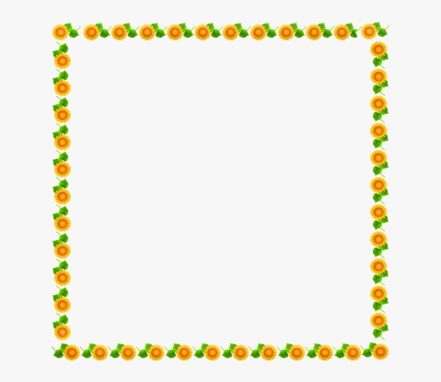 Sunflower Frame Sunflower Border Frame Border - Halloween Border Clip Art, Transparent Clipart