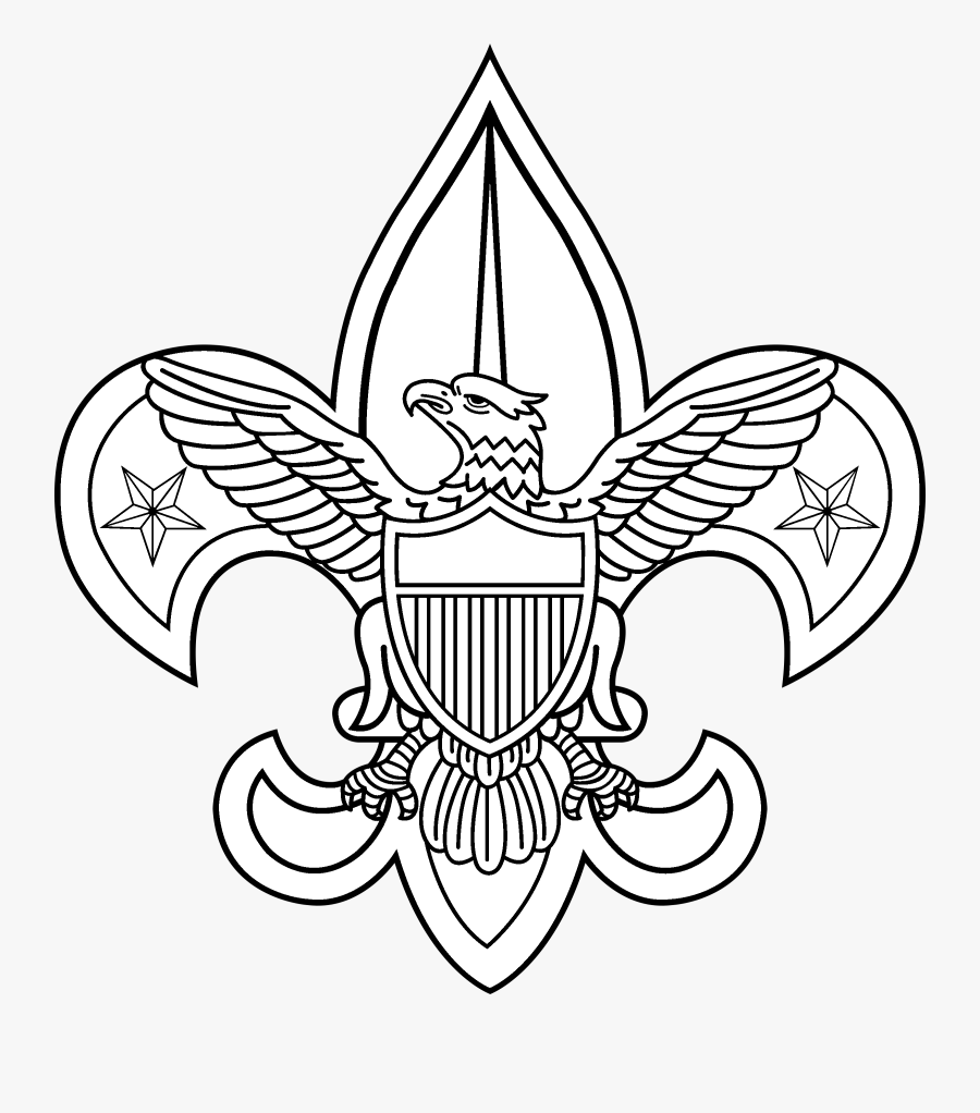 Boy Scouts 2 Logo Black And White - Boy Scout Of America Logo Vector, Transparent Clipart