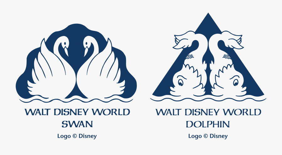 Walt Disney World Swan And Dolphin Resort Logo, Transparent Clipart