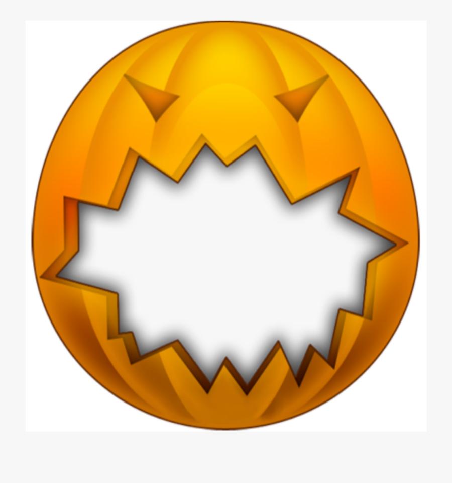 #mq #pumpkin #halloween #frame #frames #border #borders - Orange Halloween Frames Transparent, Transparent Clipart