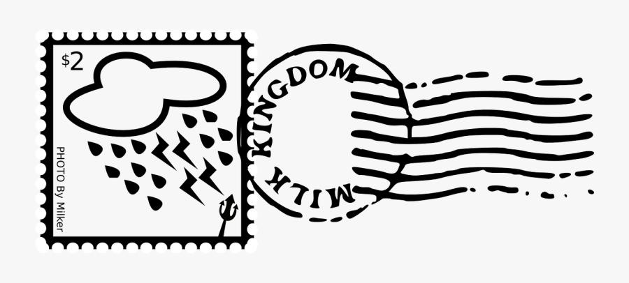 Transparent Post Stamp Png - Black And White Letter Stamp, Transparent Clipart
