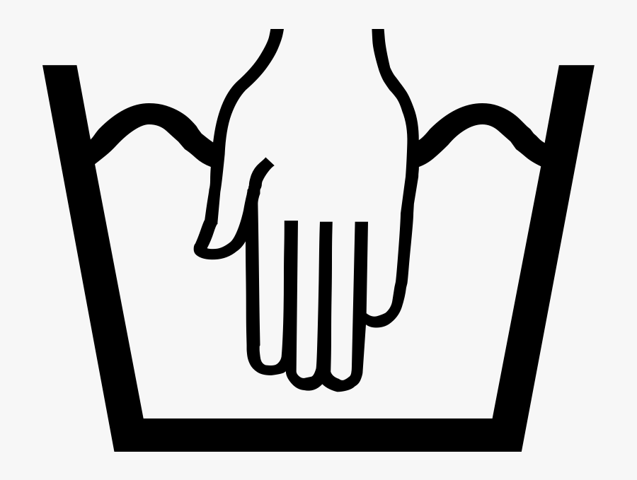 Care Label Png Jpg Library Stock - Hand Wash Only Symbol , Free Transparent  Clipart - ClipartKey