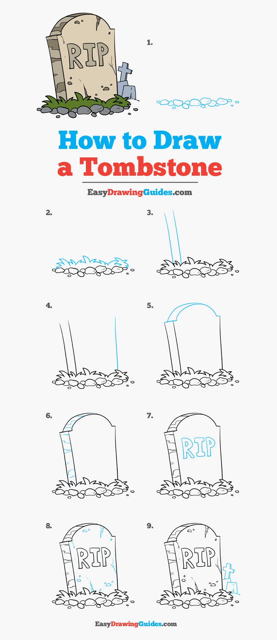 How To Draw Tombstone - Draw A Tomato Step By Step Easy, Transparent Clipart