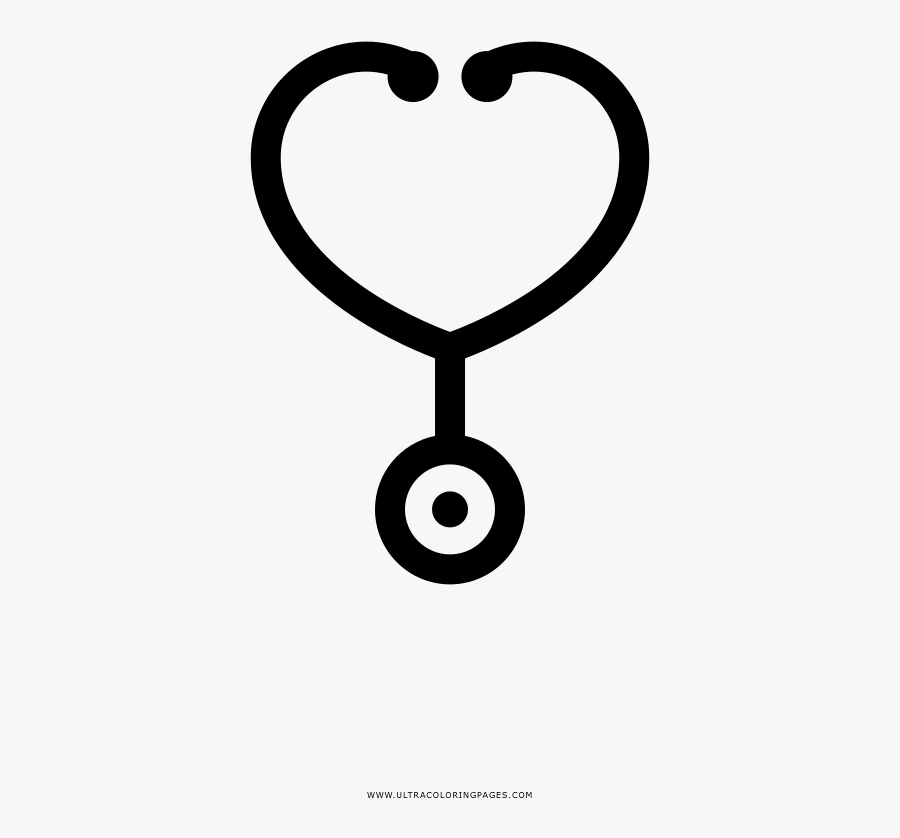 Stethoscope Coloring Page - Line Art , Free Transparent ...