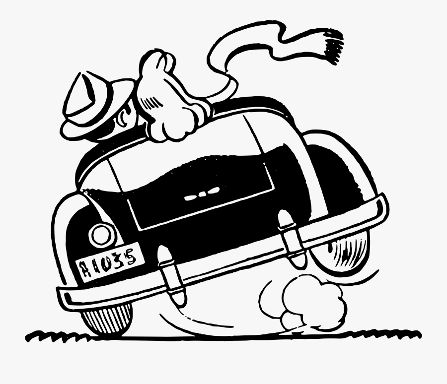 Vintage Just Married Car Png Black And White - Just Married Car Vector, Transparent Clipart