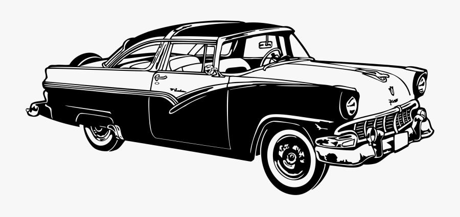 Classic Car Auto Show Vintage Car Clip Art - Classic Car Silhouette Png, Transparent Clipart