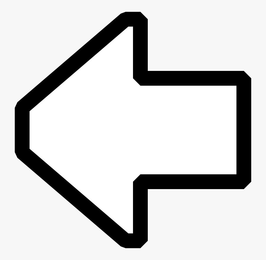 Back Arrow Icon White, Transparent Clipart
