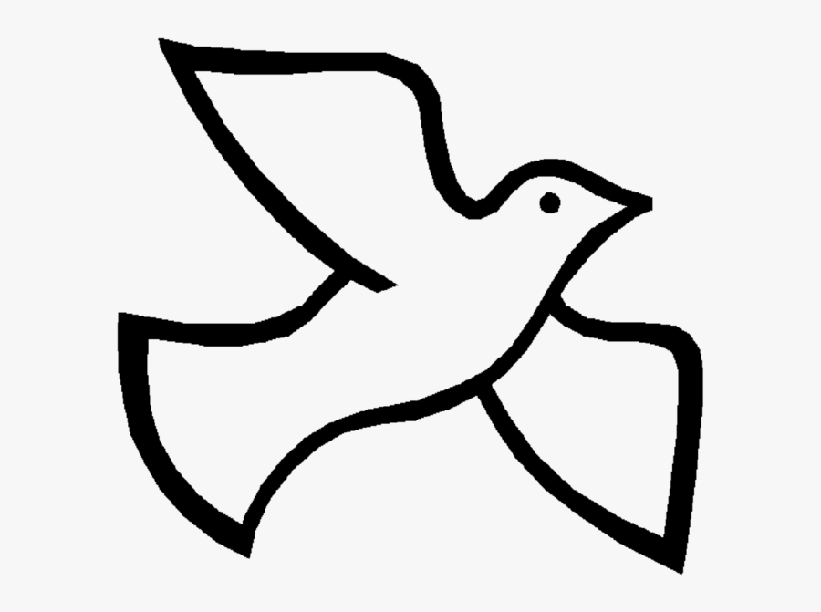 Church Banners, Sunday School Crafts, Catholic Easter, - Holy Spirit Dove, Transparent Clipart