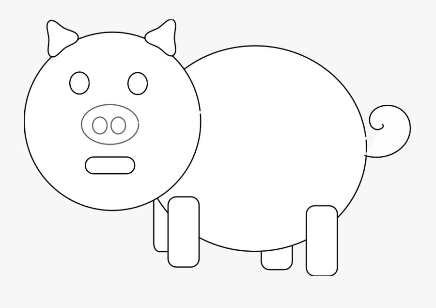 Pig Lineart, Transparent Clipart